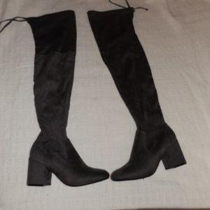 Catherine Malandrino Over The Knee Gray Boot 6.5